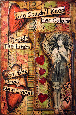 inside the lines by Victoria Art Visions